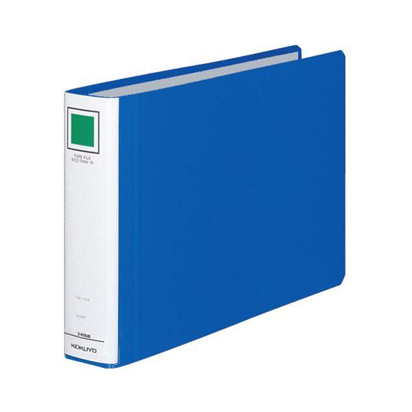 (まとめ) コクヨ チューブファイル(エコツインR) A4ヨコ 400枚収容 背幅55mm 青 フ-RT645B 1冊 【×10セット】