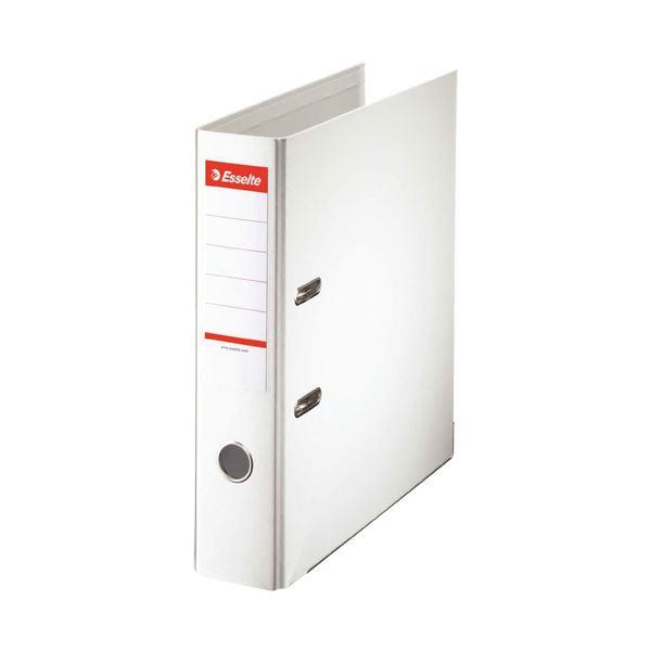 (まとめ)エセルテ レバーアーチファイル A4タテ550枚収容 背幅75mm ホワイト 20019 1冊 【×10セット】