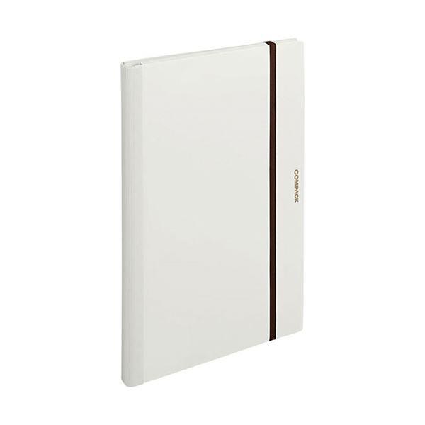 (まとめ) キングジム 二つ折りクリアーファイルコンパック A3 10ポケット 白 5896H 1冊 【×10セット】