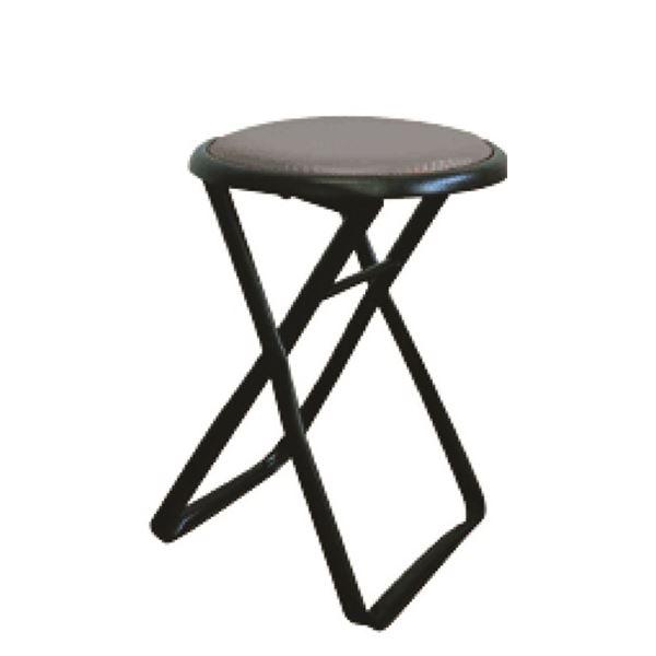 折りたたみ椅子 【6脚セット ブラック×ブラック】 幅32cm 日本製 スチールパイプ 『キャプテンチェア』【代引不可】