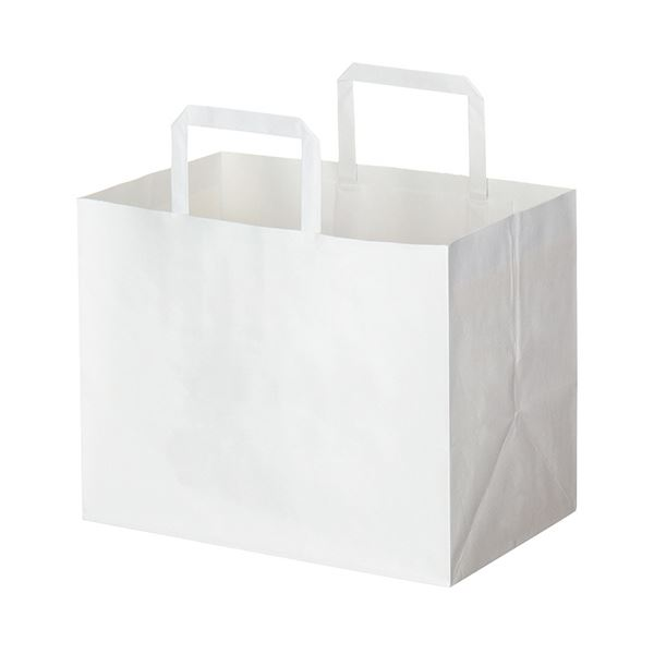 (まとめ) HEIKO Hフラットチャームバッグ280-1 白 #003277505 1パック(50枚) 【×3セット】