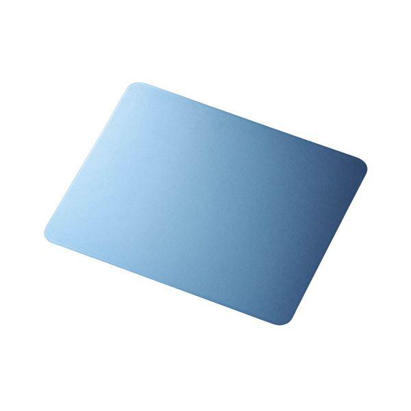 (まとめ) エレコム 光学式センサマウスパッドブルー MP-065ECOBU 1枚 【×10セット】