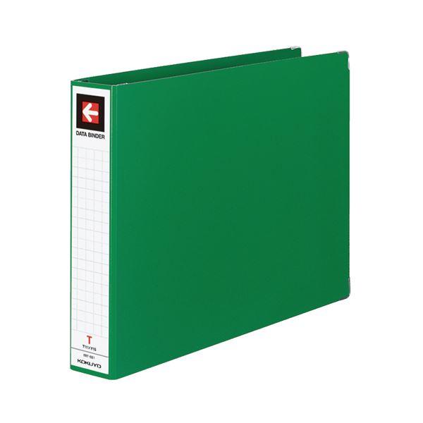 (まとめ) コクヨ データバインダーT(バースト用・ワイドタイプ) T11×Y15 22穴 450枚収容 緑 EBT-551G 1冊 【×10セット】
