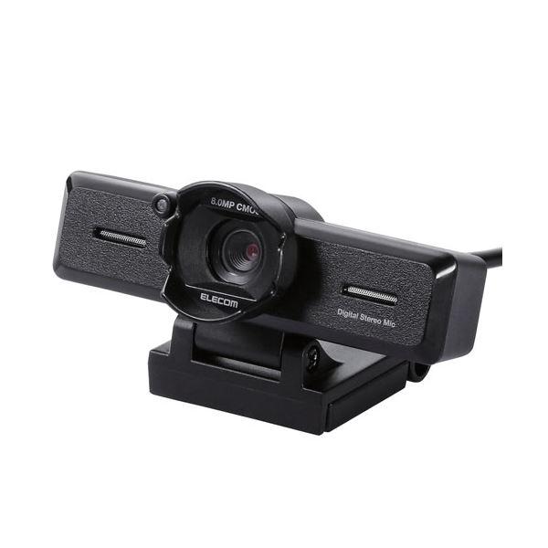 超高精細日本メーカー製CMOSセンサーが生み出す圧倒的表現力 抜群の高感度と色再現性を実現する裏面照射型CMOSセンサーを採用し 究極の高画質を楽しめるFull エレコム PCカメラ 800万画素 UCAM-C980FBBK 売買 ブラック 在庫一掃 ステレオマイク内蔵 レンズフード付 高精細ガラスレンズ