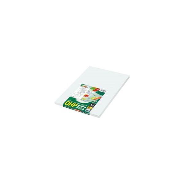 (まとめ)コクヨ OHPフィルム カラーLBP&PPC用 A4 検知マーク付なし VF-1420N 1冊(50枚)【×3セット】