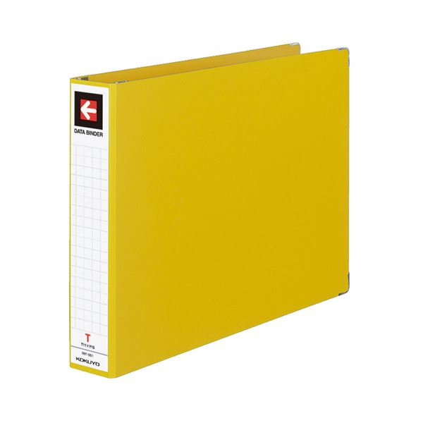 (まとめ)コクヨデータバインダーT(バースト用・ワイドタイプ) T11×Y15 22穴 450枚収容 黄 EBT-551Y1セット(10冊)【×3セット】