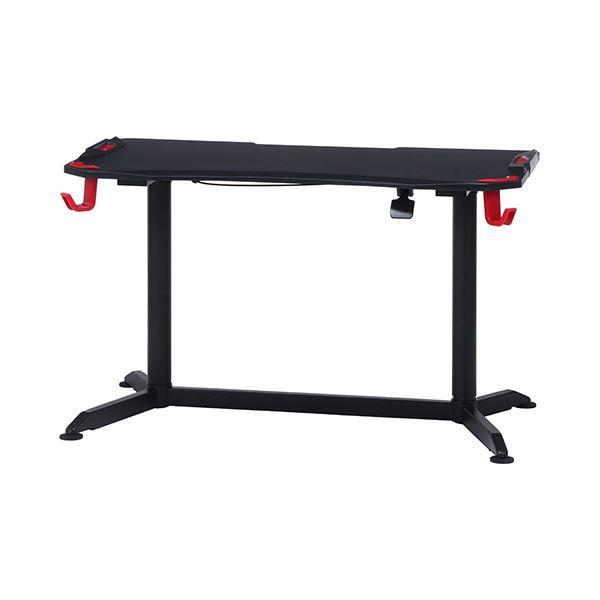 ゲーミングデスク/作業テーブル 【PRO-01 レッド】 幅120×奥行65cm 高さ調節可 プロ仕様 『GAMING DESK XeNO ゼノ』【代引不可】
