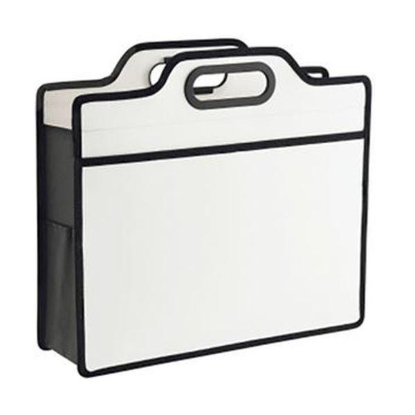 (まとめ)ライオン事務器 オフィスキャリングバッグ(ビジカル)タテ330×ヨコ365×厚さ110mm ホワイト BK-353B 1セット(5個)【×3セット】