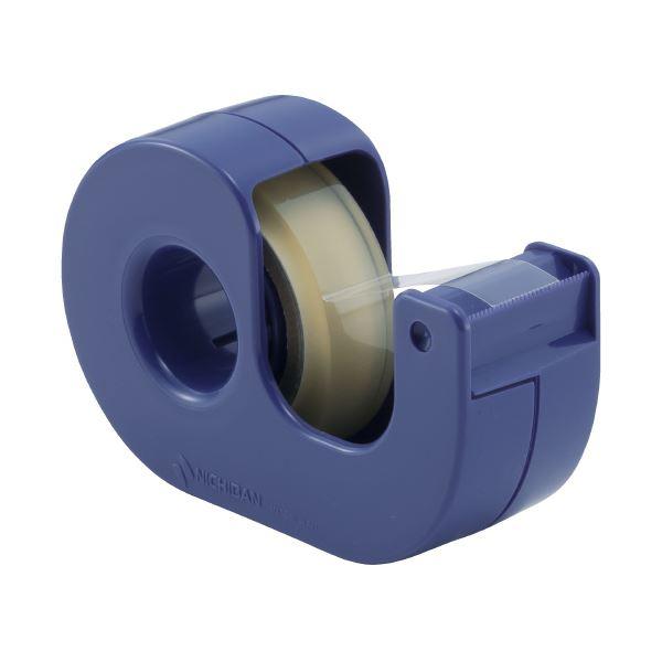 (まとめ)ニチバン セロテープ小巻カッター付 CT-12DCB 青(×50セット)
