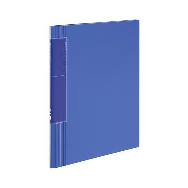 コクヨ クリヤーブック(ノビータ)(ウェーブカットポケット・固定式)A4タテ 40ポケット 背幅9~50mm 青 ラ-TN570B 1セット(10冊)