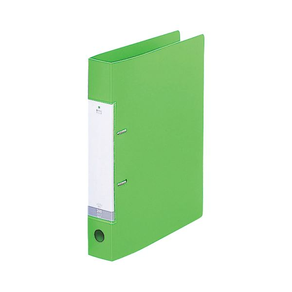 (まとめ) リヒトラブ リクエスト D型リングファイル A4タテ 2穴 350枚収容 背幅46mm 黄緑 G2230-6 1冊 【×30セット】