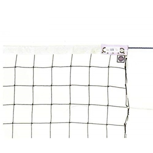 KTネット 周囲ロープ式 6人制バレーネット 日本製 【サイズ:巾100cm×長さ9.5×網目10cm】 KT100