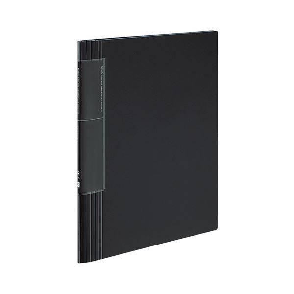 コクヨ クリヤーブック(ノビータ)(ウェーブカットポケット・固定式)A4タテ 40ポケット 背幅9~50mm 黒 ラ-TN570D 1セット(10冊)