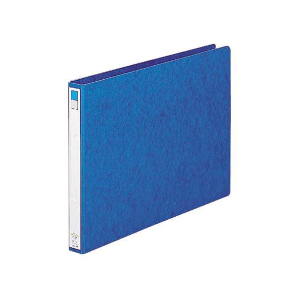 (まとめ)リヒトラブ リングファイル A3ヨコ2穴 200枚収容 背幅35mm 藍 F-835 1冊 【×10セット】