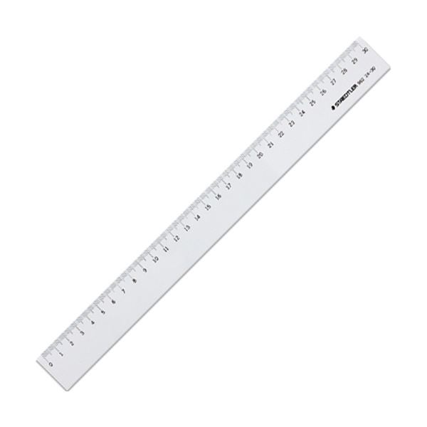 (まとめ)ステッドラー 直線定規 片側目盛り付き30cm 962 24-30 1個【×30セット】