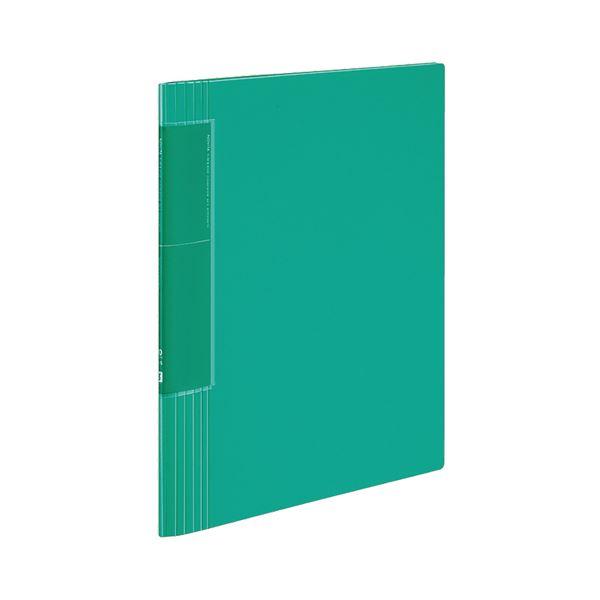 コクヨ クリヤーブック(ノビータ)(ウェーブカットポケット・固定式)A4タテ 40ポケット 背幅9~50mm 緑 ラ-TN570g 1セット(10冊)