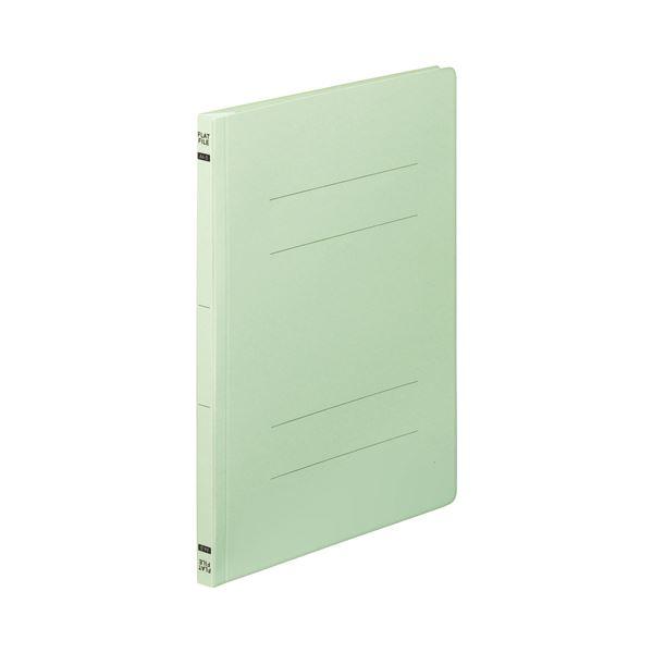 (まとめ) TANOSEE フラットファイルE A4タテ 150枚収容 背幅18mm グリーン 1セット(100冊:10冊×10パック) 【×5セット】