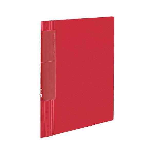 コクヨ クリヤーブック(ノビータ)(ウェーブカットポケット・固定式)A4タテ 40ポケット 背幅9~50mm 赤 ラ-TN570R 1セット(10冊)