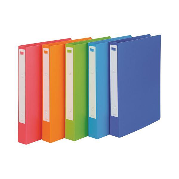(まとめ)ビュートン リングファイル e.s.A4タテ 2穴 200枚収容 背幅36mm オレンジ ESR-A4-OR 1冊 【×30セット】