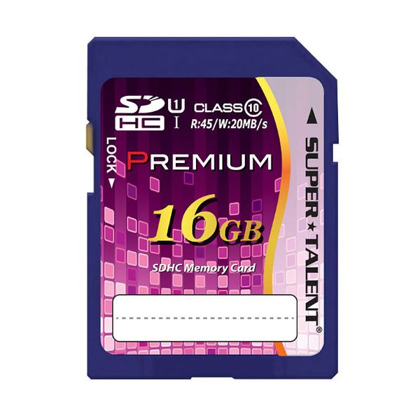 (まとめ) スーパータレントUHS-I対応SDHCメモリーカード CLASS10 16GB ST16SU1P 1枚 【×10セット】