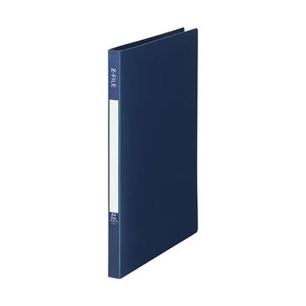(まとめ)TANOSEE Zファイル(再生PP表紙)A4タテ 100枚収容 背幅17mm インディゴブルー 1セット(10冊)【×10セット】