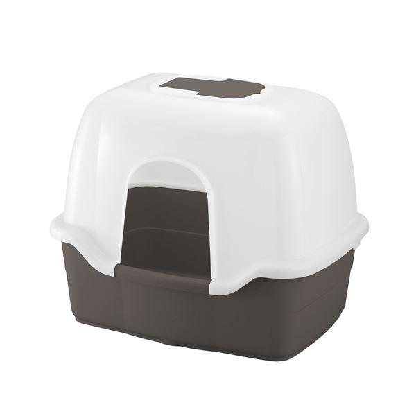 フード付きタイプのネコトイレ! ラプレ ネコトイレ 深型 60フード付 ダークグレー (ペット用品)