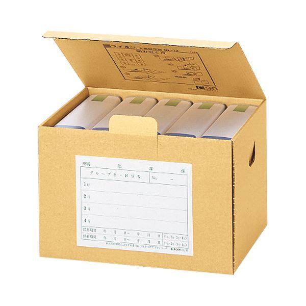 (まとめ)ライオン事務器 文書保存箱 A4・B4用内寸W388×D282×H314mm OL-11 1セット(10個)【×3セット】