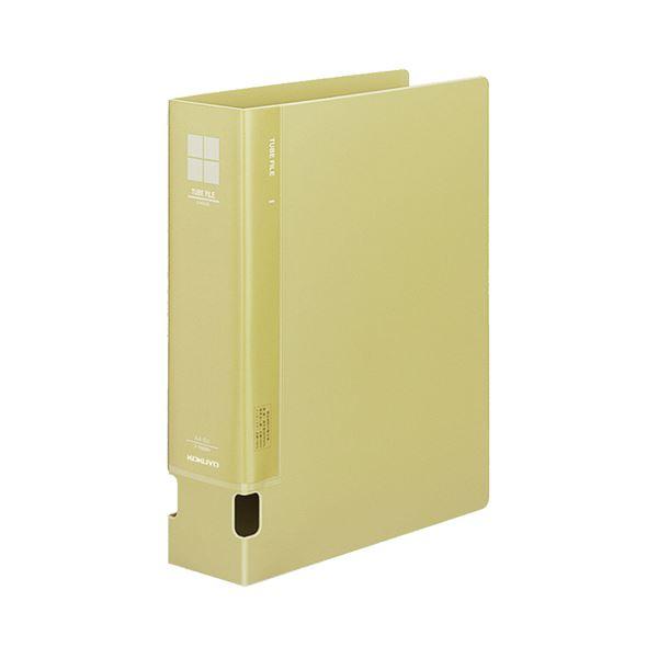 (まとめ) コクヨ チューブファイルPP 片開き A4タテ 600枚収容 背幅74mm 黄 フ-F660NY 1冊 【×10セット】