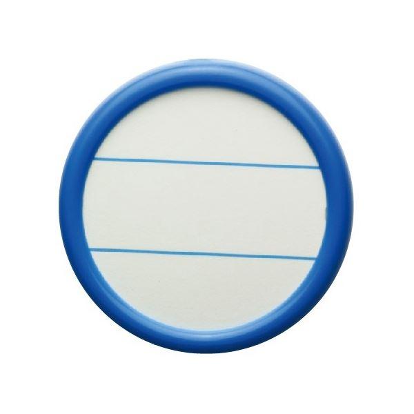 (まとめ) ソニック 丸型名札 大 両用 青NF-685-B 1セット(30個:10個×3パック) 【×10セット】