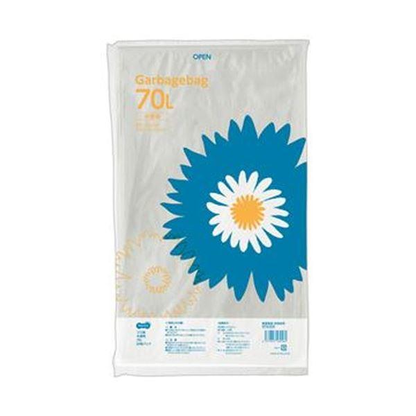 (まとめ)TANOSEE ゴミ袋 半透明 70L 1パック(20枚)【×50セット】