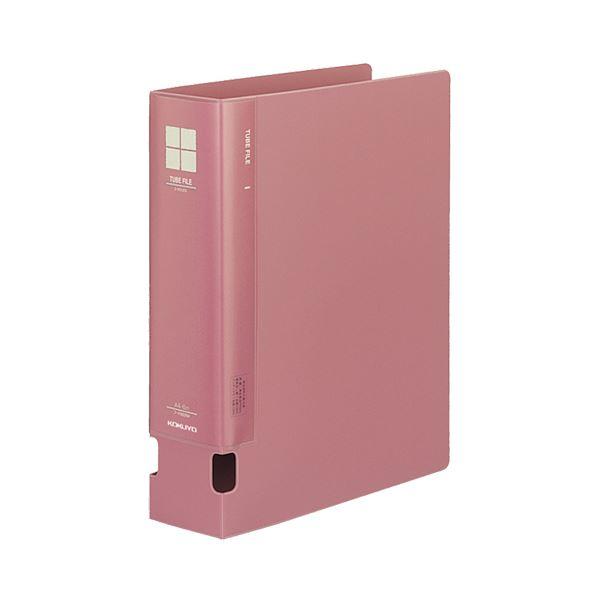 (まとめ) コクヨ チューブファイルPP 片開き A4タテ 600枚収容 背幅74mm ピンク フ-F660NP 1冊 【×10セット】
