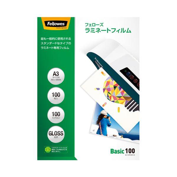 (まとめ)フェローズジャパン ラミネートフィルム A3 100枚 5847801【×5セット】