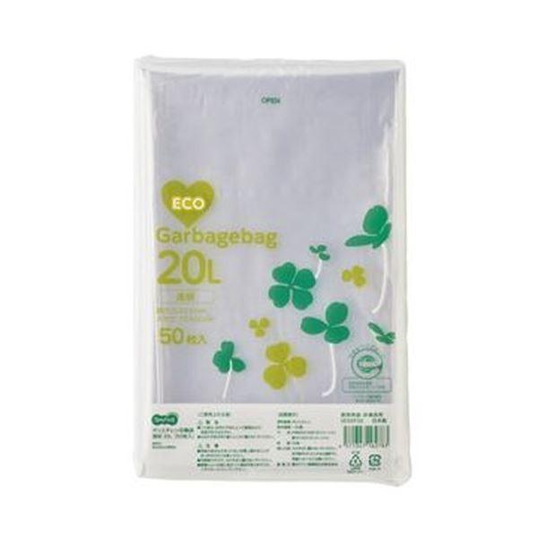 (まとめ)TANOSEE ポリエチレン収集袋 透明20L 1パック(50枚)【×20セット】