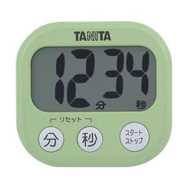 (まとめ)タニタ でか見えタイマーピスタチオグリーン TD-384GR 1個【×20セット】