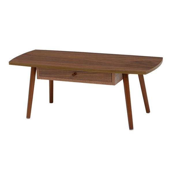 テーブル(ブラウン) 組立式 【幅95×奥行40×高さ37cm】【代引不可】