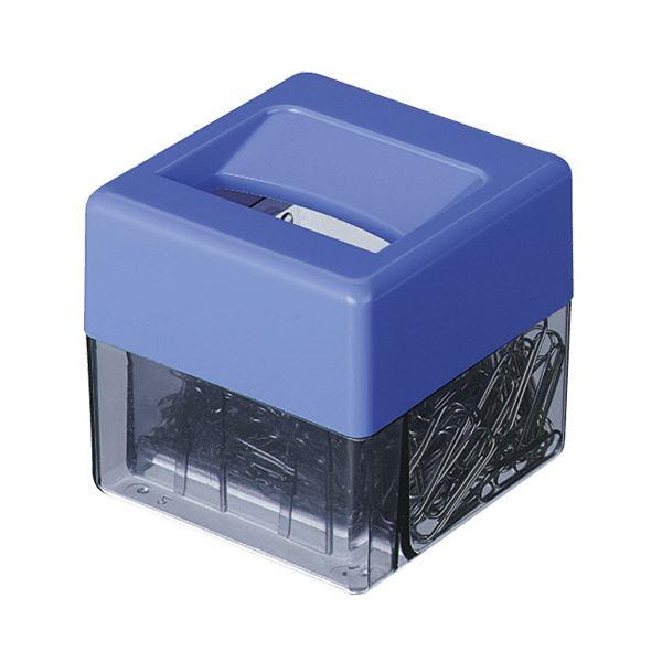 (まとめ) コクヨ マグネットボックスゼムクリップ小(約208本)付 青 マク-1B 1個 【×30セット】