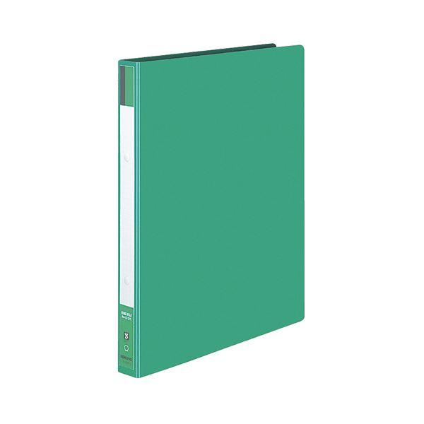 リングファイル 色厚板紙表紙 170枚収容 背幅30mm 緑 (まとめ) 【×30セット】 2穴 フ-420NG コクヨ A4タテ 1冊