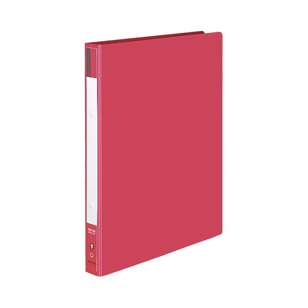 背幅30mm 1冊 フ-420NR 【×30セット】 色厚板紙表紙 赤 170枚収容 2穴 (まとめ) リングファイル A4タテ コクヨ