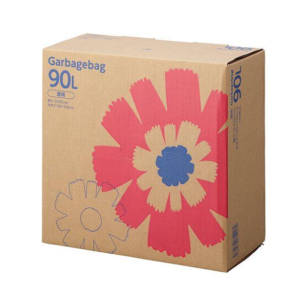 TANOSEE ゴミ袋 コンパクト 透明90L BOXタイプ 1セット(330枚:110枚×3箱)