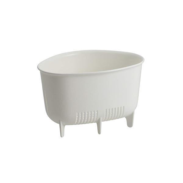 (まとめ) 三角コーナー/生ゴミ入れ 【小】 抗菌仕様 ホワイト キッチン用品 『Nポゼ』 【60個セット】