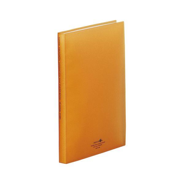(まとめ) LIHIT LAB クリヤーブック 橙【×20セット】