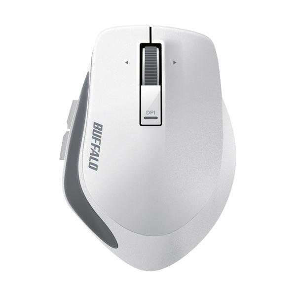 (まとめ) バッファロー 無線 BlueLEDプレミアムフィットマウス Mサイズ ホワイト BSMBW500MWH 1個 【×5セット】