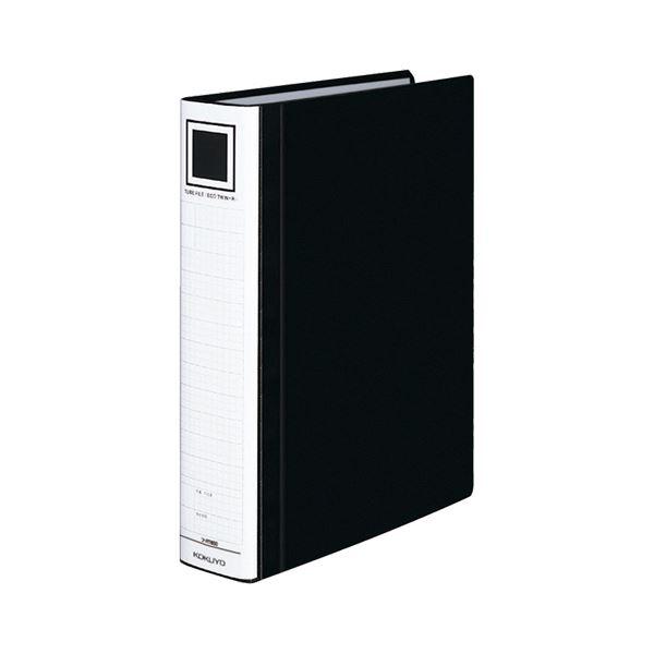 (まとめ) コクヨ チューブファイル(エコツインR) A4タテ 500枚収容 背幅65mm 黒 フ-RT650D 1冊 【×10セット】