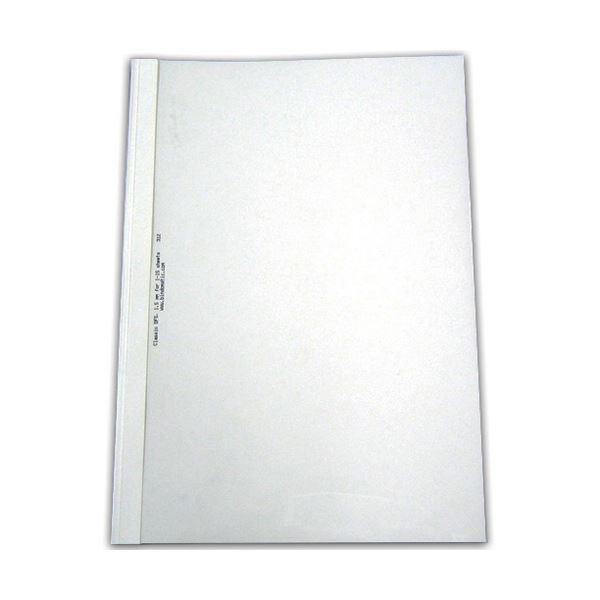 ジャパンインターナショナルコマースとじ太くん専用カバー A4タテ 背幅12mm クリア/ホワイト 1セット(50枚:10枚×5パック)