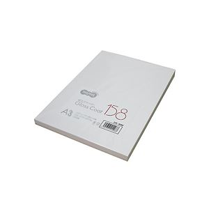 (まとめ) TANOSEE αエコグロスコート158 A3 158g 1冊(100枚) 【×5セット】