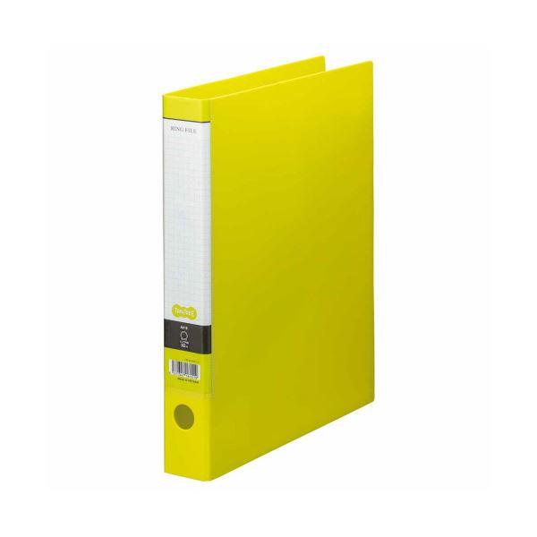 (まとめ) TANOSEE Oリングファイル A4タテ 2穴 250枚収容 背幅44mm ライトグリーン 1セット(10冊) 【×5セット】