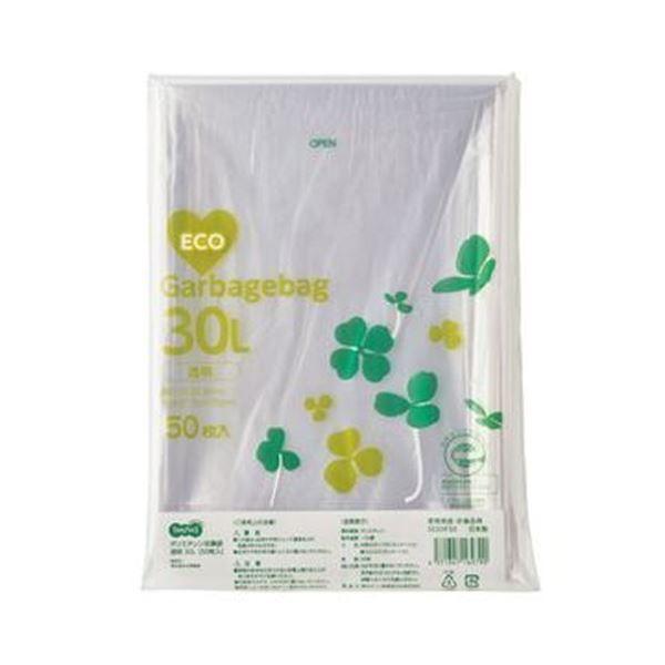 (まとめ)TANOSEE ポリエチレン収集袋 透明30L 1パック(50枚)【×20セット】