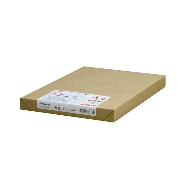 (まとめ) 長門屋商店 マルチOA和紙 大礼 白 A4 ナ-857 1冊(250枚) 【×5セット】