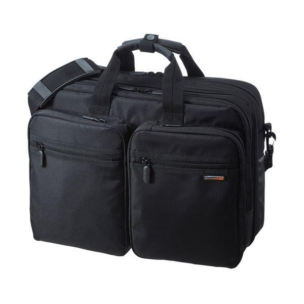 (まとめ)サンワサプライ3WAYビジネスバッグ(出張用) 15.6インチワイド対応 ブラック BAG-3WAY21BK 1個【×3セット】
