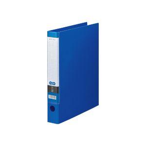 1セット(10冊) (まとめ) 250枚収容 ブルー Oリングファイル TANOSEE A4タテ 2穴 【×5セット】 背幅44mm